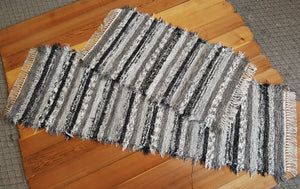 "Kitchen Runner & Medium Rug Set - 24"" x 6' & 24"" x 43"" Black & Gray"