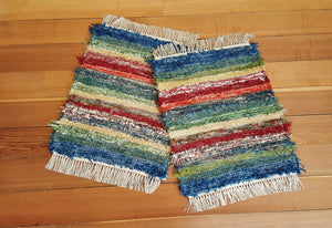 "20"" x 25"" Fiesta - Set of 2 - U. S. HAND WOVEN Small Area Rag Rugs"