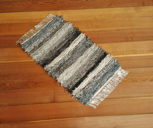 "Kitchen, Bathroom or Door Entry Rug - 20"" x 32"" Black, Gray,  Oatmeal, Tan & Brown"