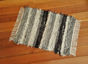 "Kitchen, Bathroom or Door Entry Rug - 24"" x 33"" Black, Gray, Oatmeal, Tan & Brown"