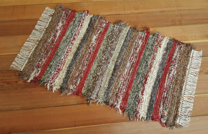 "Kitchen, Bathroom, Bedroom or Door Entry Rug - 24"" x 42"" Deep Red"