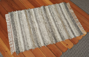 "Entry Way, Bedroom, Nursery or Dorm Room Rug - 36"" x 53"" Gray, Tan & Oatmeal"