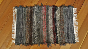 "Kitchen, Bathroom, Bedroom or Door Entry Rug - 24"" x 38"" Gray, Black, Brown & Red"
