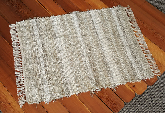 "Entry Way, Bedroom, Nursery or Dorm Room Rug - 36"" x 46"" Taupe & Oatmeal"