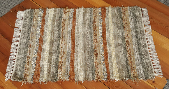 "Entry Way, Bedroom, Nursery or Dorm Room Rug - 36"" x 53"" Olive & Taupe"