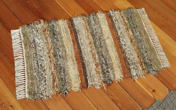 "Kitchen, Bedroom, Bathroom or Door Entry Rug - 28"" x 43"" Olive & Taupe"