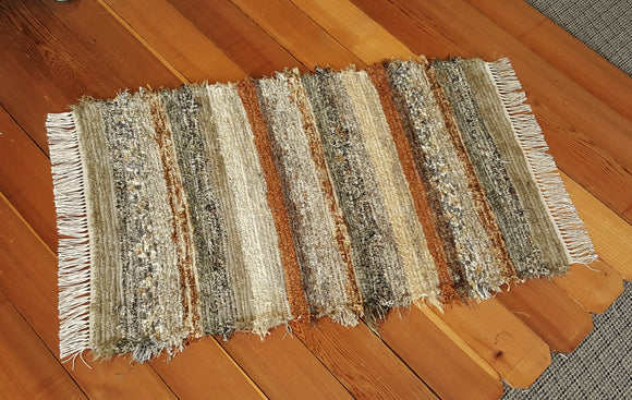 "Kitchen, Bedroom, Bathroom or Door Entry Rug -28"" x 44"" Olive & Taupe"