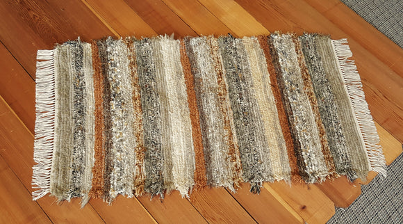"Kitchen, Bedroom, Bathroom or Door Entry Rug -28"" x 48"" Olive & Taupe"