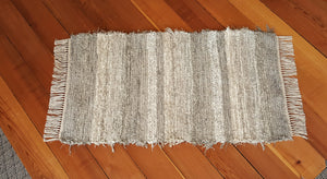 "Kitchen, Bathroom, Bedroom or Door Entry Rug - 24"" x 43"""" Gray, Tan & Oatmeal"