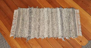 "Kitchen, Bathroom, Bedroom or Door Entry Rug - 24"" x 46"" Gray, Tan & Oatmeal"