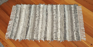 "Kitchen, Bedroom, Bathroom or Door Entry Rug - 28"" x 48"" Gray, Tan & Oatmeal"