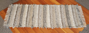 "Kitchen, Bathroom or Hallway Runner Rug - 28"" x 6 '6"" Gray, Tan & Oatmeal"
