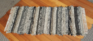 "Kitchen, Bathroom or Hallway Runner Rug - 28"" x 67"" Black, Tan, Oatmeal, Gray & Brown"