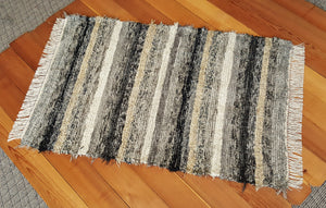 "Entry Way, Bedroom, Nursery or Dorm Room Rug - 36"" x 54"" Black, Gray, Tan, Brown & Oatmeal"