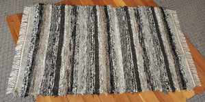 "Bedroom, Nursery, Entry Way or Dorm Room Rug - 4' x 6' 4"" Black, Gray, Tan, Brown & Oatmeal"