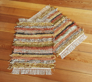 "Bathroom or Kitchen Rug Set - 20"" x 24"" & 20"" X 25"" Burnt Orange"