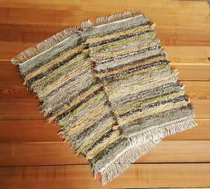 "Kitchen, Bathroom or Door Entry Rug Set - 20"" x 32"" & 20"" x 32""- Olive & Taupe"