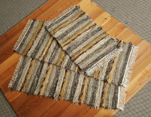 "Kitchen Runner & 2 Medium Rugs Set -24"" x 58"" & 24"" x 52"" & 24"" x 36"" Olive & Taupe"