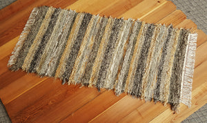 "Kitchen, Bathroom or Hallway Runner Rug - 28"" x 58"" Olive & Taupe"