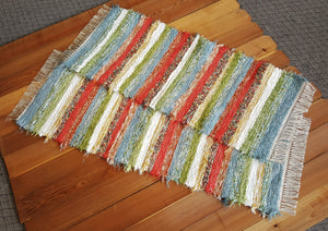 "24"" x 60"" & 24"" x 54"" Confetti - Set of 2 - U. S. HAND WOVEN Area Rag Rug Runners"