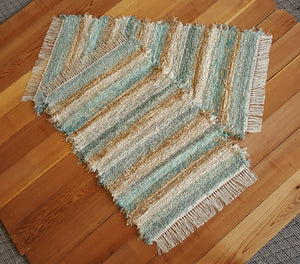 "Kitchen, Bedroom or Door Entry Rug Set - 24"" x 43"" & 24"" x 37"" -Set of 2- Aqua & Honey"