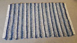 Living Room, Sunroom, Nursery or Family Room Rug - 5' x 8'  Navy & Gray