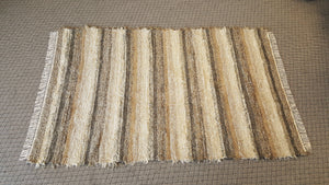 Living Room, Sunroom, Nursery or Family Room Rug - 5' x 8'  Taupe, Cream & Gray