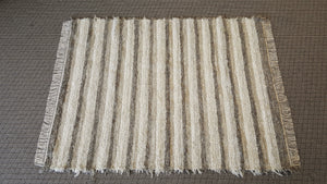"Living Room, Sunroom, Nursery or Family Room Rug -5' x 6' 6""  Gray & Oatmeal"