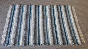 "Living Room, Sunroom, Nursery or Family Room Rug - 5' x 7' 10""  Teal, Silver & Gray"