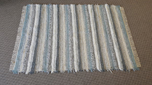 "Living Room, Sunroom, Nursery or Family Room Rug -5' x 7 2""  Blue & Gray"