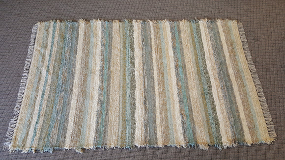Living Room, Sunroom, Nursery or Family Room Rug - 5' x 8'  Aqua & Honey