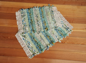 "Bathroom or Kitchen Rug Set - 20"" x 24"" & 20"" x 31""- Teal, Gray & Celery"