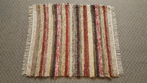 "Bedroom, Nursery, Entry Way or Dorm Room Rug - 4' x 4'  6"" Deep Red & Earthtone"