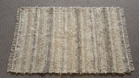 Bedroom, Nursery, Entry Way or Dorm Room Rug - 4' x 6'   Tan & Gray
