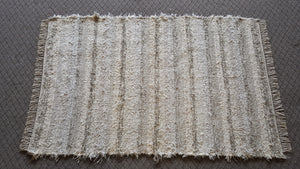 "Bedroom, Nursery, Entry Way or Dorm Room Rug - 4' x 6' 2""  Creme & Light Tan"