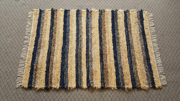 Bedroom, Nursery, Entry Way or Dorm Room Rug - 4' x 6' Navy & Gold