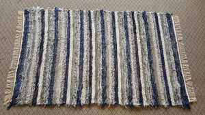"Bedroom, Nursery, Entry Way or Dorm Room Rug - 4' x 6' 2""  Navy & Gray"