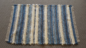Bedroom, Nursery, Entry Way or Dorm Room Rug - 4' x 6'   Country Blue & Tan