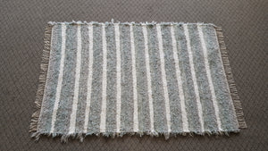 Bedroom, Nursery, Entry Way or Dorm Room Rug - 4' x 6' Light Aqua, Gray & White