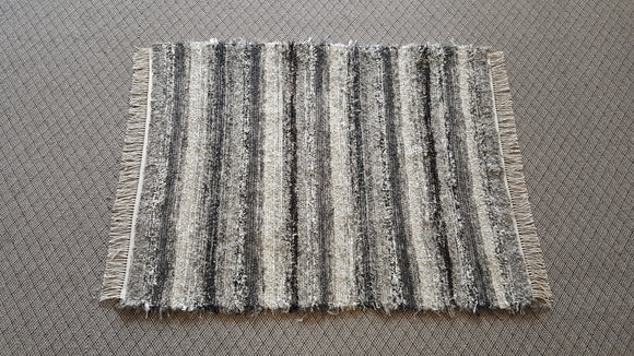 Bedroom, Nursery, Entry Way or Dorm Room Rug - 4' x 5'  Black, Tan & Gray