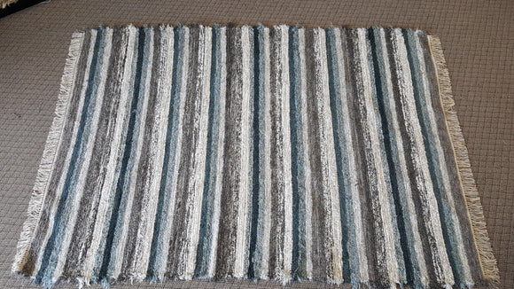 Living Room, Dining Room or Family Room Rug - 6' x 8'  Teal & Gray