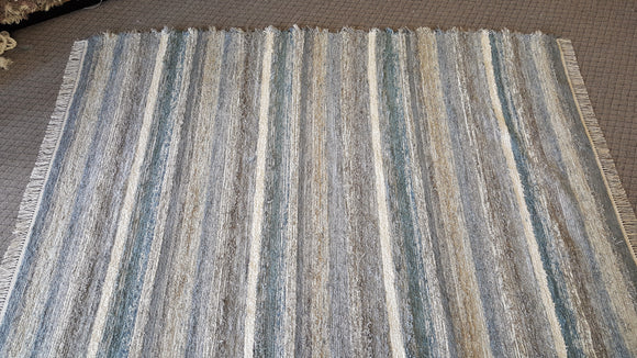 Living Room, Dining Room or Family Room Rug - 7' x 9' Dusty Blue & Gray
