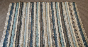 "Living Room, Dining Room or Family Room Rug - 6' x 8' 8"" Teal & Chocolate"