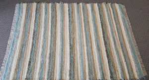 "Living Room, Dining Room or Family Room Rug - 6' x 8' 4"" Aqua & Honey"