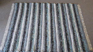 "Living Room, Dining Room or Family Room Rug - 6' x 8'  2"" Aqua, Gray & Black"