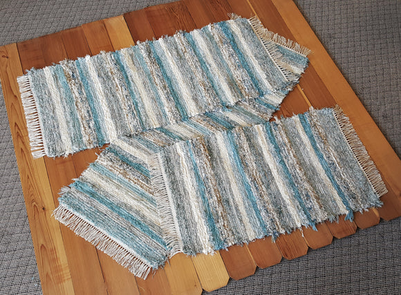 Kitchen or Bedroom Runners & Medium Rug Set - 24
