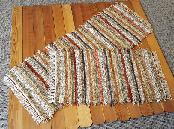 Kitchen or Bedroom Runner & Medium Rug Set - 28