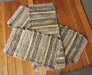 "Kitchen Runner & 2 Medium Rugs Set - 24"" x 60"" & 24"" x 54"" & 24"" x 37""- Olive & Taupe"