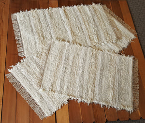 "Kitchen or Bedroom Runner & 2 Medium Rugs Set - 28"" x 65"" & 28"" x 50"" & 28"" x 43"" - Ivory & Creme"