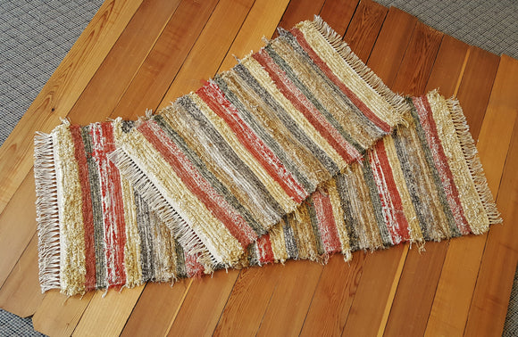 Kitchen or Bedroom Runner &  Medium Rug Set - 24